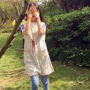 apron Hemp grey (slight defect) Sleeveless apron antifouling Japanese  Household cleaning Average size A-950 public Idyllic