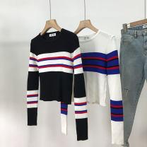Wool knitwear Summer 2021 Average size White 2, black 1 Long sleeves singleton  Socket cotton 30% and below Regular routine Sweet routine Socket SH312444 18-24 years old