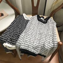 Wool knitwear Summer 2021 Average size White 2, black 1 Long sleeves singleton  Socket cotton 30% and below Regular routine commute Straight cylinder Half height crew neck routine Solid color Socket Korean version SH312436 18-24 years old