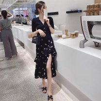 Fashion suit Summer 2021 S M L XL Single skirt single top + skirt (suit) 25-35 years old Huan Ting 3316# 31% (inclusive) - 50% (inclusive) polyester fiber Other 100% Pure e-commerce (online only)