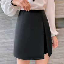 skirt Summer 2020 XS,S,M,L,XL,2XL Black, white Short skirt commute High waist skirt Solid color Type A 25-29 years old 91% (inclusive) - 95% (inclusive) other polyester fiber Korean version 141g / m ^ 2 (including) - 160g / m ^ 2 (including)