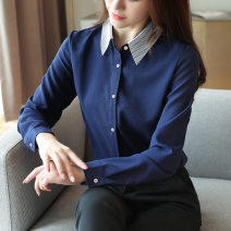 Lace / Chiffon Autumn 2020 Yellow, red, navy S,M,L,XL,2XL Long sleeves Sweet Socket Polo collar Solid color routine 6 8 56