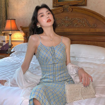 Dress Summer 2020 Orchid lattice S,M,L Mid length dress singleton  Sleeveless commute other High waist lattice zipper other other camisole Type A Retro D8222 51% (inclusive) - 70% (inclusive) other other