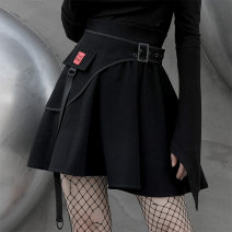 skirt Winter 2020 S,M,L black Short skirt street High waist A-line skirt Solid color Type A 18-24 years old PQ-922BQ 51% (inclusive) - 70% (inclusive) other PUNK RAVE cotton