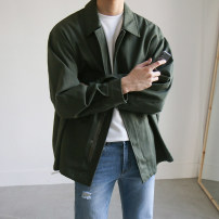 Jacket Mrcyc Youth fashion Army green, black M. L, XL, 2XL, reference: model height 177 weight 120 try on L routine easy Other leisure autumn Long sleeves Wear out Lapel tide teenagers routine Zipper placket 2020 Cloth hem other Closing sleeve Solid color Seldingham other Cover patch bag cotton
