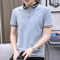 Polo shirt Ou Lizhe Youth fashion thin 23619 black 23619 blue M L XL 2XL 3XL Self cultivation Other leisure summer Short sleeve OLZ-23619 tide routine youth Cotton 70% polyester 27% PVC 3% cotton No iron treatment Embroidery Summer 2021 Same model in shopping mall (sold online and offline)
