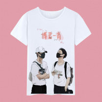 T-shirt Youth fashion 1,2,3,4,5,6,7,8,9,10,11,12,13,14,15,16,17,18,19,20 routine Women's M, women's L, women's XL, s, m, l, XL, XXL, 3XL, children's 6, children's 8, children's 10, children's 12, children's 14, children's 16, 4XL Tagkita / she and others Short sleeve Crew neck easy daily Four seasons