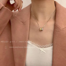 Necklace Alloy / silver / gold 10-19.99 yuan Other / other Silver Double Ring Pendant Necklace brand new Japan and South Korea female goods in stock yes Fresh out of the oven 21cm (inclusive) - 50cm (inclusive) no Below 10 cm Not inlaid alloy other other XL0174