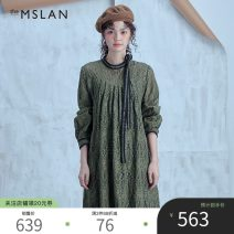 Dress Summer 2020 Ben White Gothic green M longuette singleton  Long sleeves Crew neck Loose waist Solid color Socket A-line skirt Others 25-29 years old theMSLAN Lace CBM624201 31% (inclusive) - 50% (inclusive) cotton Cotton 40% viscose fiber (viscose fiber) 31.2% polyamide fiber (nylon fiber) 28.8%