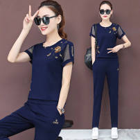 Fashion suit Summer of 2019 M [recommended 80-100 kg], l [recommended 100-115 kg], XL [recommended 115-125 kg], 2XL [recommended 125-140 kg], 3XL [recommended 140-160 kg] Black, white, Baolan, red 221 mm (embroidered 200g zhigongni) 91% (inclusive) - 95% (inclusive) polyester fiber
