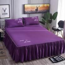 Bed skirt 180cmx200cm single bed skirt, 180cmx220cm single bed skirt, 120cmx200cm single bed skirt, if you need a pillow case, please contact customer service, 200cmx220cm single bed skirt cotton Other / other Solid color First Grade