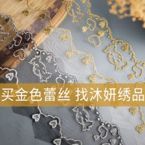 lace Ws-03 gold 1, ws-03 gold 5, ws-03 Silver 1, ws-03 Silver 5, ws-04 gold 1, ws-04 gold 5, ws-04 Silver 1, ws-04 Silver 5, other colors and materials can be customized Muyan embroidery WS-03-04 Water soluble computerized embroidery geometry