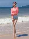Split swimsuit DUDU&MUMU Pink Female m (recommended 80-100kg) female L (recommended 100-112kg) female XL (recommended 112-125kg) Triangle swimsuit With chest pad without steel support Spandex polyester others Y232 Autumn 2020 Long sleeves