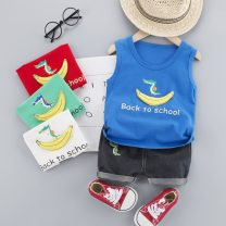suit Other / other 80cm,90cm,100cm,110cm neutral summer leisure time Two piece set Thin money No model nothing cotton Banana + camera + point vest Class A 3 years old Chinese Mainland