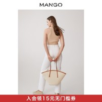 Bag The single shoulder bag hemp Straw bag MANGO Beige brand new in leisure time Single shoulder youth Spring 2021 Same model in shopping mall (sold online and offline)