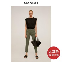 Casual pants Gray white Khaki yellow purple black deep sea army blue 160/64A 165/68A 170/72A 155/58A 155/62A 170/74A 175/78A Spring 2020 trousers Straight pants High waist routine 25-29 years old 51% (inclusive) - 70% (inclusive) MANGO cotton Same model in shopping mall (sold online and offline)