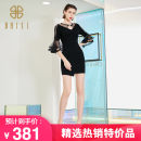 Dress Summer 2020 black 34/S,36/M Mid length dress singleton  Short sleeve commute other High waist other Socket other routine Others 25-29 years old Type A Baisi Korean version NS004TB1102 other