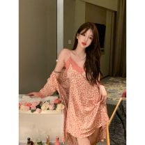 Nightdress Other / other Suspender dress, cardigan coat M, L Sweet Sleeveless pajamas Middle-skirt summer other youth V-neck other 81% (inclusive) - 95% (inclusive) other K