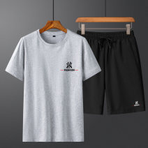 T-shirt Youth fashion routine M L XL 2XL 3XL 4XL Gebotoo / geboto Short sleeve Crew neck standard Other leisure summer Cotton 100% youth routine tide Summer 2021 Alphanumeric Yichun UNIQLO Hailan home Fashion brand Pure e-commerce (online only)