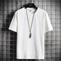 T-shirt Youth fashion thin M L XL 2XL 3XL 4XL Gebotoo / geboto Short sleeve Crew neck easy daily summer Cotton 95% polyurethane elastic fiber (spandex) 5% youth routine Youthful vigor Cotton wool Summer 2021 Solid color Yichun UNIQLO Hailan home Fashion brand Pure e-commerce (online only)