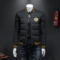 Down Jackets Black, white In the sky White duck down M,L,XL,2XL,3XL,4XL,5XL Youth fashion go to work have cash less than that is registered in the accounts thickening 80% Wear out Hoodless stand collar Wear out youth 100g (including) - 150g (excluding) Simplicity in Europe and America Closing sleeve