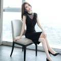 Dress Summer of 2019 black S M L XL Middle-skirt singleton  Sleeveless commute Crew neck High waist Solid color zipper One pace skirt 25-29 years old Zhiyu Korean version Gauze More than 95% polyester fiber Polyester 97.2% polyurethane elastic fiber (spandex) 2.8% Pure e-commerce (online only)