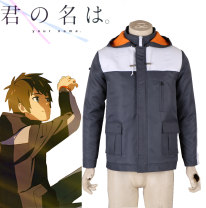 Cosplay men's wear jacket Customized Akiba1st Over 14 years old XXS, XS, s, m, l, XL, XXL, XXXL, children s, children L, customized Animation, film and television Average size Japan Your Name Otaku department, campus style