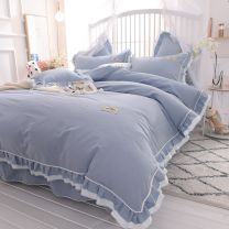 Bed skirt cotton Mary bean paste, Mary pink, Mary grey, Mary blue green, Mary milk white, Anna white, Anna bean paste, Anna pink, Anna grey, Anna grey green, Anna blue grey Other / other Solid color Qualified products SH-545642311