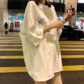 T-shirt M XXL L XL Summer of 2019 Short sleeve Crew neck easy Medium length routine commute other 96% and above 18-24 years old Korean version originality Alphanumeric Shi Su printing Other 100% Pure e-commerce (online only)