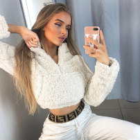 Sweater / sweater Autumn of 2019 White, pink S,M,L Long sleeves have cash less than that is registered in the accounts Socket singleton  routine High collar easy street routine Solid color 18-24 years old 81% (inclusive) - 90% (inclusive) meige polyester fiber polyester fiber Europe and America