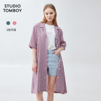 Dress Summer 2020 41 green 61 red 160/84A longuette singleton  Short sleeve commute Loose waist lattice Single breasted Others 25-29 years old STUDIO TOMBOY Korean version 9100241221-396915 51% (inclusive) - 70% (inclusive) polyester fiber Polyester 70% cotton 25% viscose 5%