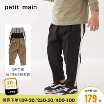 trousers PETIT MAIN male 90cm 100cm 110cm 120cm 130cm Coffee brown grey black spring and autumn trousers solar system There are models in the real shooting Casual pants Leather belt middle-waisted Polyester fiber 82.5% polyurethane elastic fiber (spandex) 17.5% Winter 2020