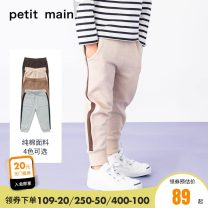 trousers PETIT MAIN male 80cm 90cm 100cm 110cm 120cm 130cm 140cm Hemp ash-85 carbon ash-81 camel-25 cinnamon-23 spring and autumn trousers motion There are models in the real shooting Casual pants Leather belt middle-waisted Pure cotton (100% content) Don't open the crotch Cotton 100% Class A