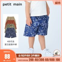 trousers PETIT MAIN male 90cm 100cm 110cm 120cm 130cm Military green card, its color, Chinese brick red, navy blue summer Pant solar system There are models in the real shooting Casual pants Leather belt middle-waisted Polyamide fiber (nylon) 89.2% polyurethane elastic fiber (spandex) 10.8% Class A