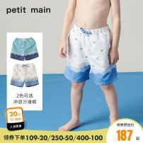 Bathing suit 90cm 100cm 110cm 120cm 130cm Polyester 100% Light grey blue-53m white-03 PETIT MAIN male Children's swimming trunks Class A Summer 2020 18 months, 2 years old, 3 years old, 4 years old, 5 years old, 6 years old, 7 years old