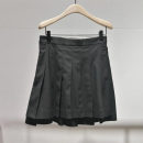 skirt Winter 2020 S,M,L Black, chestnut brown Short skirt commute High waist A-line skirt Solid color Type A MBO4SKT011 More than 95% Yundisu polyester fiber Button, pocket