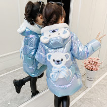 Cotton padded jacket female No detachable cap other Big Denny / Denny bear Pink, light blue, pink [newly upgraded and thickened], light blue [newly upgraded and thickened] 160cm,150cm,140cm,130cm,120cm,110cm thickening Zipper shirt leisure time There are models in the real shooting other other other