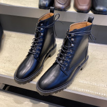 Boots 36,37,38,39,40, the size of Korean shoes is too small, it is recommended to consult customer service black PU Other / other Low heel (1-3cm) Flat bottom PU Short tube Round head PU PU Spring 2020 Anterior frenulum Simplicity rubber Solid color Fashion boots Adhesive shoes PU Shaving B15S949