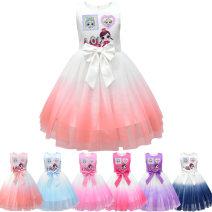 Dress 8016 pink, 8016 rose red, 8016 purple, 8016 blue, 8016 royal blue, 8016 peach powder, 8016 peach powder, upper body white female Other / other 130cm,120cm,150cm,140cm,110cm,100cm Other 100% summer princess 3 months