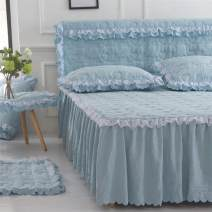 Bed skirt Others Orchid purple, island blue, light jade, light golden camel, dark brown gray, Princess powder Other / other Others