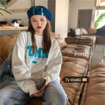 Sweater / sweater Autumn 2020 Gray, white, black Average size Long sleeves routine Socket singleton  routine Crew neck easy commute routine letter 18-24 years old 31% (inclusive) - 50% (inclusive) Korean version cotton