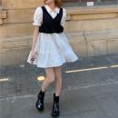 Fashion suit Summer 2021 Average size Black vest, skirt 18-25 years old