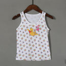 Vest sling white Sleeveless 60,65,70,75 neutral leisure time Cartoon animation nothing T-T4134 2 years old, 3 years old, 4 years old, 5 years old, 6 years old, 7 years old