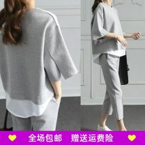 Casual suit Spring of 2019 grey S. M, l, XL, XXL, [high quality stock], [quality assurance], [after sales worry free] Other / other acrylic fibres