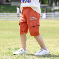 trousers middle-waisted Rubber belt Class B male Shuo Shuo's family 2, 3, 4, 5, 6, 7, 8, 9, 10, 11, 12 Capris summer Casual pants There are models in the real shot Don't open the crotch cotton leisure time Cotton 98% other 2% bhtz58 Zhejiang Province Huzhou City Chinese Mainland Orange, white, black
