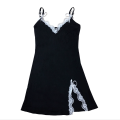 Dress Summer 2021 black S,M,L,XL Short skirt singleton  Sleeveless V-neck Loose waist Solid color zipper A-line skirt other camisole 18-24 years old Type A zipper 30% and below other cotton