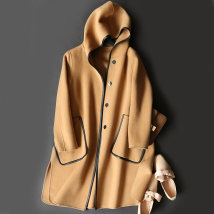 woolen coat Summer of 2018 S M L Camel pink army green off white wool 95% and above Medium length Hood H14-D123