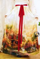Custom made Hanfu One piece double print pleated skirt M. S, l, XL, others female A long dream