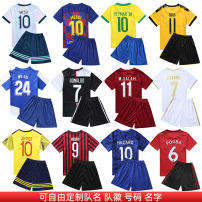 Football clothes Average code, 110120130140150160 children Fu Dong Player Edition Short sleeve football suit Home court France 2014 Real Madrid Chelsea Guangzhou Evergrande  Dortmund