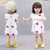 Dress White, black, ivory strawberry skirt with bag 511 female Other / other 80 is suitable for height of 75 cm, 90 is suitable for height of 70-80cm, 100 is suitable for height of 80-90cm, 110 is suitable for height of 90-100cm, 120 is suitable for height of 100-110cm Other 100% summer princess 511#